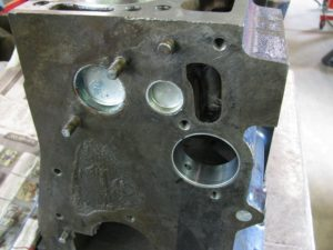Block with cam bearings installed